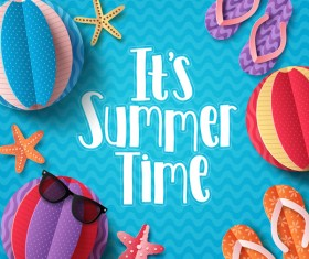 Summer holiday sea background vector