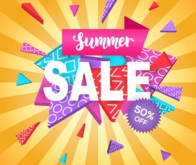 Summer sale background modern design vector
