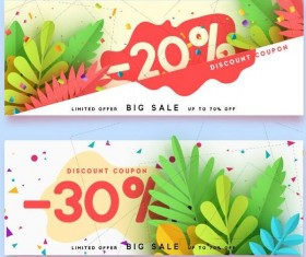 Summer sale banner design vectors set 02