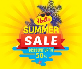 Summer sale discount up vector background