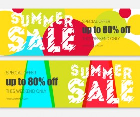 Summer sale special offer vectors 01