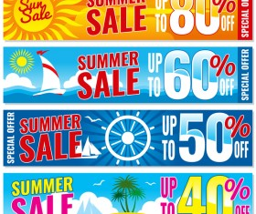 Summer sale special offer vectors 02