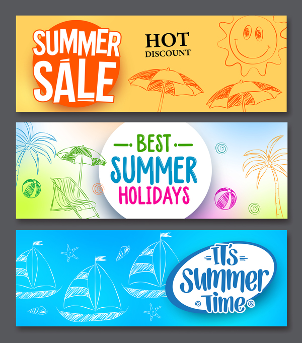 Summer sale special offer vectors 03