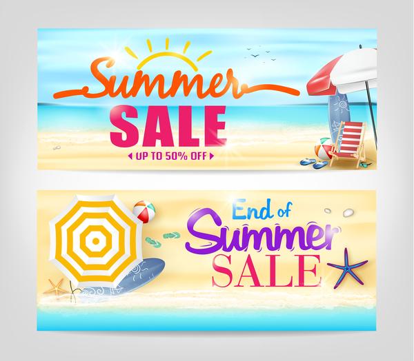 Summer sale special offer vectors 04