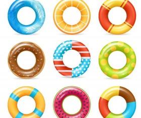 Summer swimming ring vector illustration 01