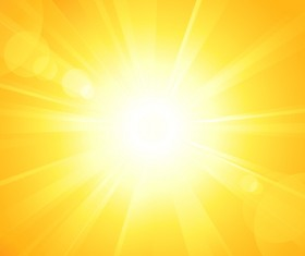 Sun light with ornage background vector 02