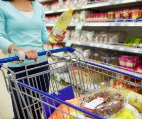Supermarket woman buying food Stock Photo 08