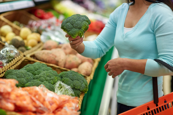 Supermarket woman buying food Stock Photo 13