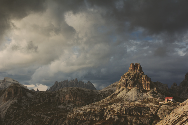The thick cloud landscape in the Rocky Mountains Stock Photo