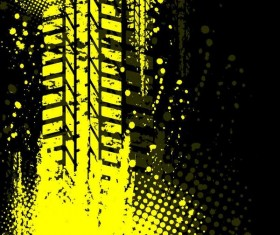 Tire tracks with black background vector