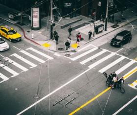 Urban traffic intersection Stock Photo