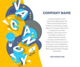Vacancy business words illustration vector