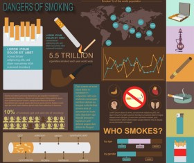 Vector smoking infographic template 01