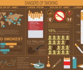 Vector smoking infographic template 03