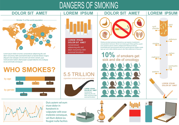 Vector smoking infographic template 04