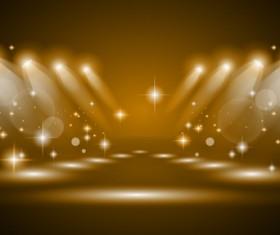 Vector spotlights golden effect 02