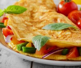 Vegetable fried eggs Stock Photo 03