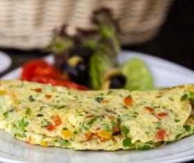 Vegetable fried eggs Stock Photo 04