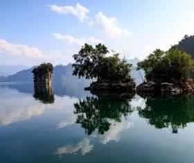 Vietnam three Seas Lake Scenery Stock Photo