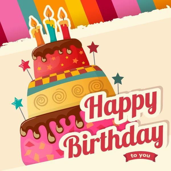 Vintage Cake Birthday Background Vector Free Download