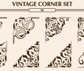 Vintage corner ornaments vectors