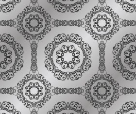 Vintage seamless pattern damask wallpaper vector