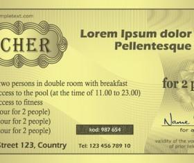 Voucher card golden template vectors