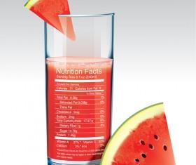 Watermelon juice vector