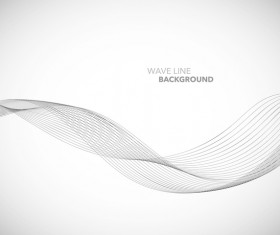 Wave line background design elements vector 09