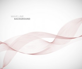 Wave line background design elements vector 14