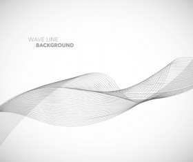 Wave line background design elements vector 15