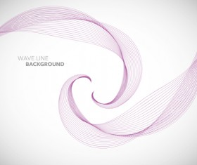 Wave line background design elements vector 17