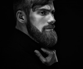 Wear a beard young man Stock Photo 01