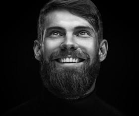 Wear a beard young man Stock Photo 02