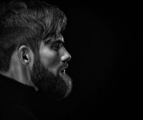 Wear a beard young man Stock Photo 03