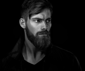 Wear a beard young man Stock Photo 04