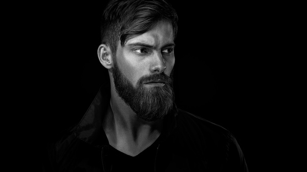 Wear a beard young man Stock Photo 04