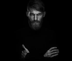 Wear a beard young man Stock Photo 05