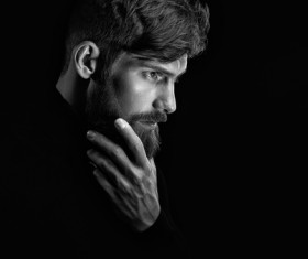 Wear a beard young man Stock Photo 06