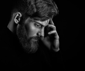 Wear a beard young man Stock Photo 07