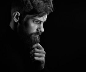 Wear a beard young man Stock Photo 08