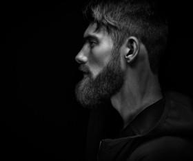 Wear a beard young man Stock Photo 09