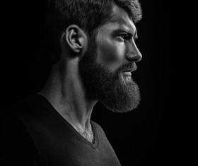 Wear a beard young man Stock Photo 11