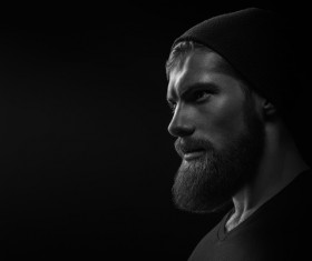 Wear a beard young man Stock Photo 12