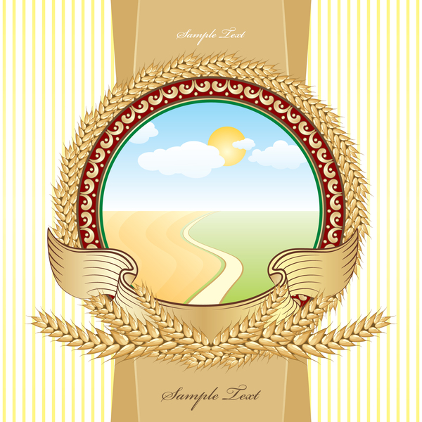 Wheat beer stickers vector material