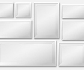 White photo frame design vector 01