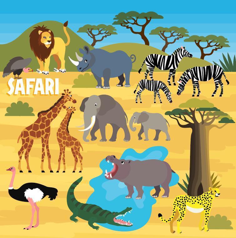 Wildlife Park design vectors