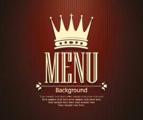 Wine red menu cover vector