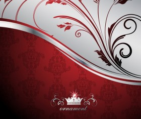 Wine red oranment with background vector