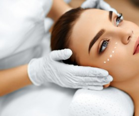 Woman doing skin care Stock Photo 02